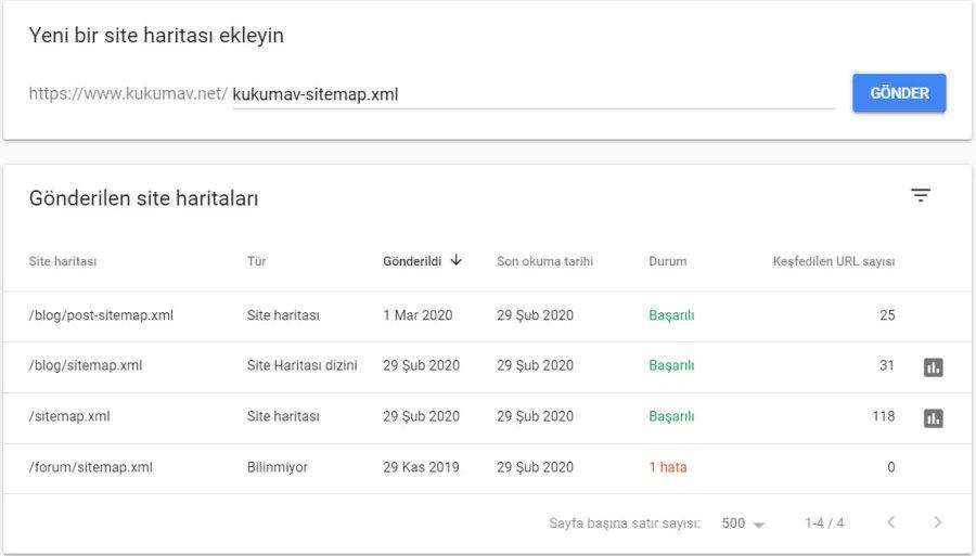 Google Search Console Sitemap Gönderme