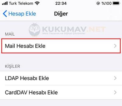 Iphone IMAP Mail Kurma