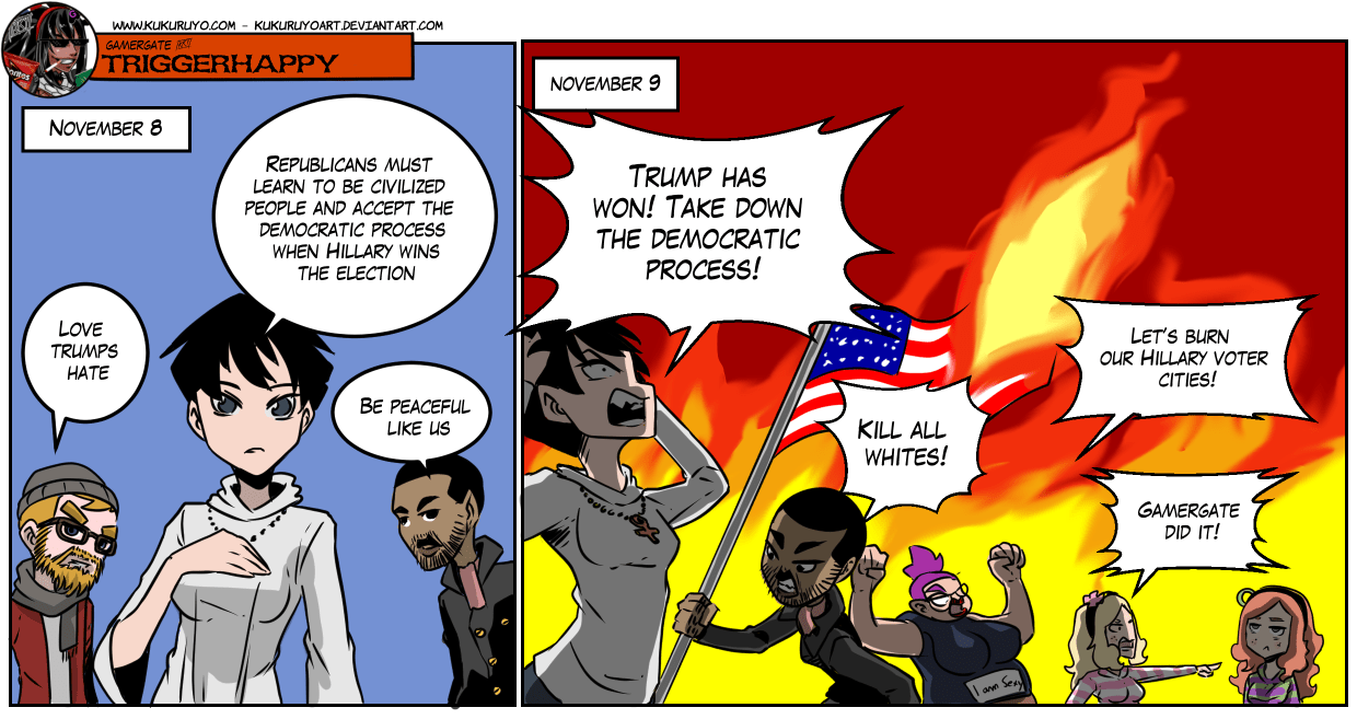 Gamergate triggerhappy – Election day