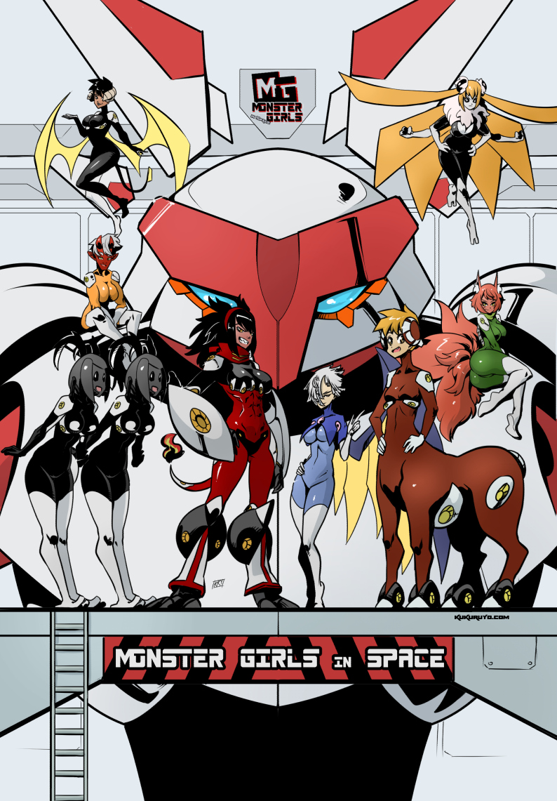 Monster girls in Space: Cover