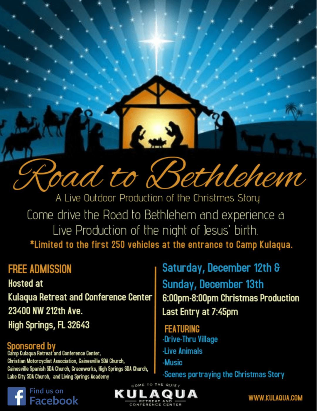 2020 Road to Bethlehem Flyer Kulaqua Retreat and Conference Center