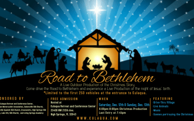 2020 Drive-Through Nativity at Kulaqua Retreat and Conference Center in High Springs Florida