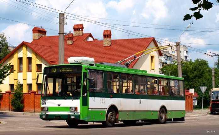 Наслідки пожежі тролейбуса