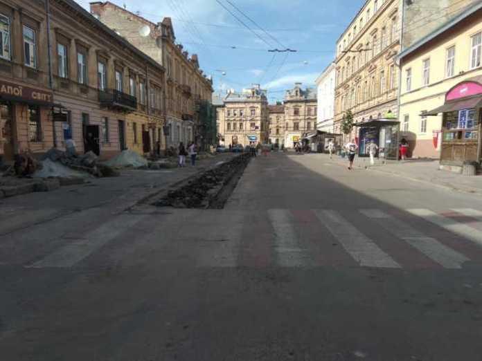 Ремонт вулиці Шота Руставелі
