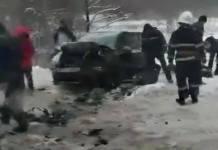 """На трасі """"Львів - Самбір"""" не розминулись автомобілі. Фото Варта-1"""