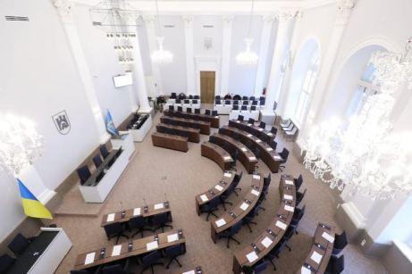 У сесійній залі Львівської міськради нарешті завершився ремонт, фото Христина Процак