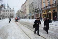 Прибирання Львова від снігу. 8 лютого 2021 року. Фото ЛМР