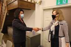 Ірина Гримак провела зустріч із Тимчасово повіреною у справах США в Україні Крістіною Квін, фото ЛОР