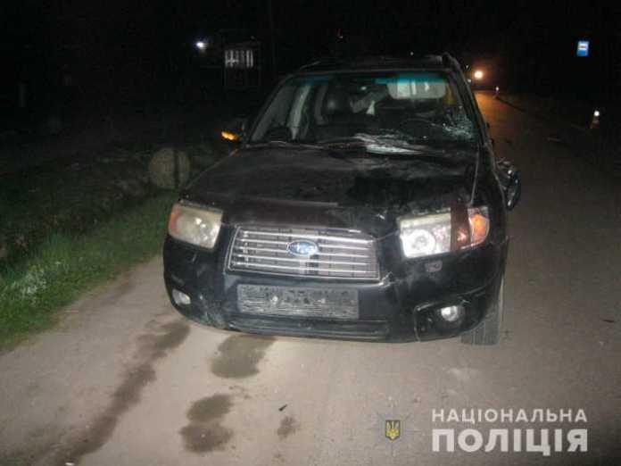 На Львівщині «Subaru Forester» збила пішоходів. Фото: Нацполіція