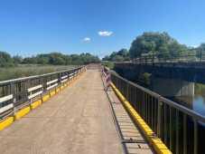 На Львівщині нарешті облаштували тимчасовий міст через Західний Буг, фото САД у Львівській області
