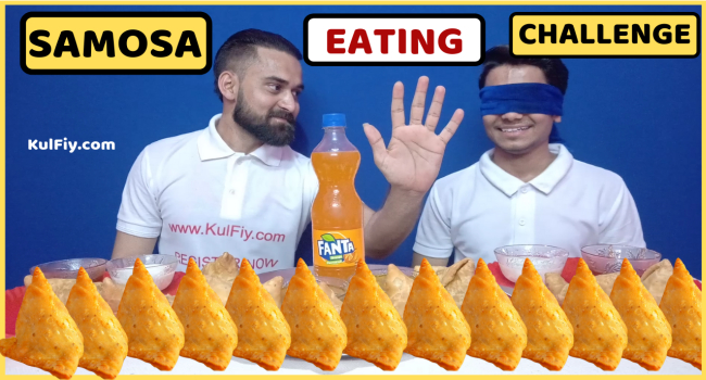 Samosa eating challenge