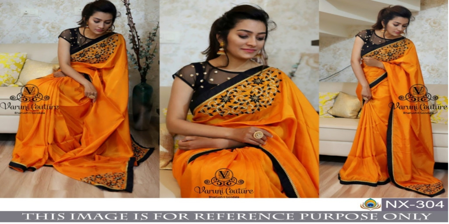 Srk-Orange-Color-Paper-Silk-Embroidered-Sarees