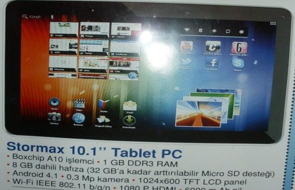 stormax tablet pc bim 15 şubat