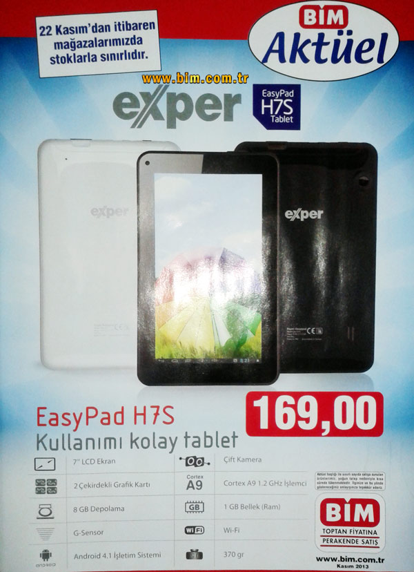 Exper EasyPad H7S Tablet