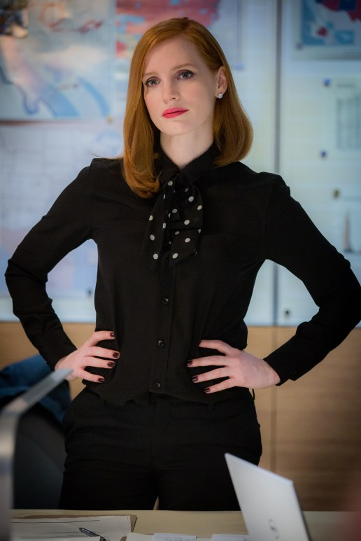 "M31 Jessica Chastain stars in EuropaCorp's ""Miss. Sloane"". Photo Credit: Kerry Hayes © 2016 EuropaCorp – France 2 Cinema"