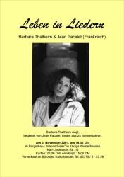 Leben in Liedern - Barbara Thalheim & Jean Pacalet