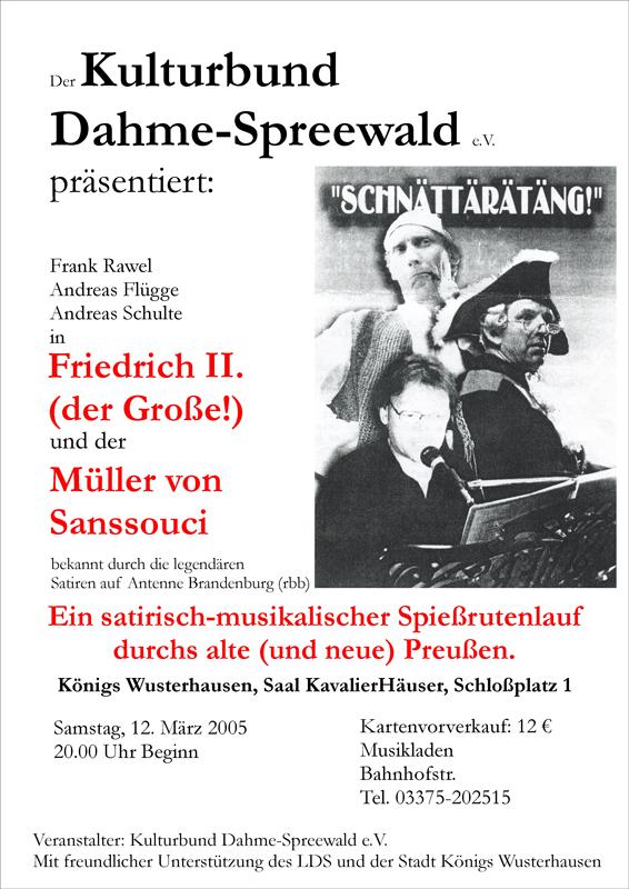 Schnätterätäng - Friedrich der II. & der Müller von Sanssouci