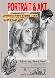 Zeichenkurs Portrait & Akt mit Brigitte Guhle