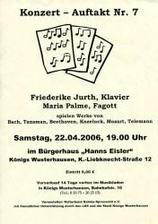 Konzert - Auftakt Nr. 7