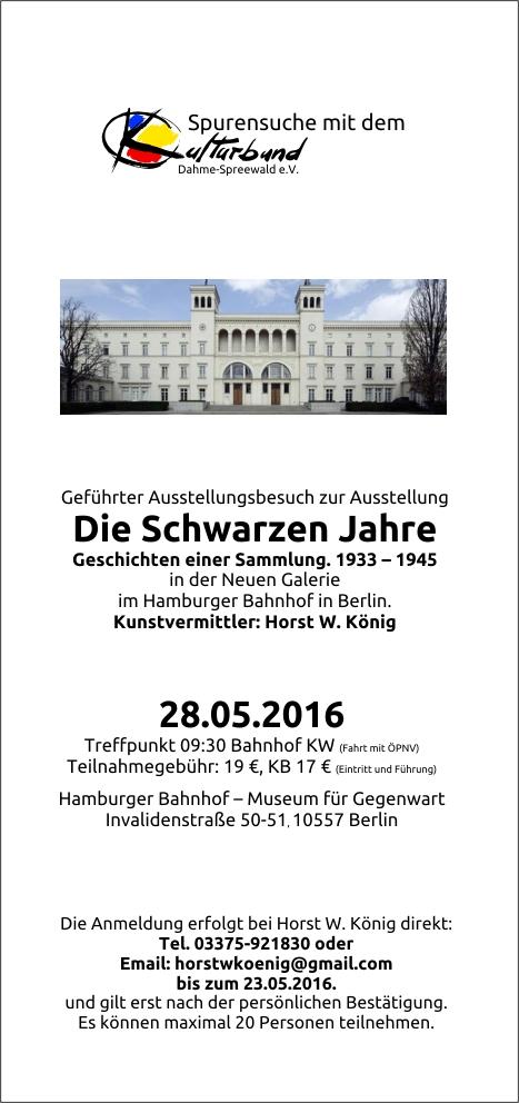 """Spurensuche in der Ausstellung """"Die schwarzen Jahre"""" in Berlin"""