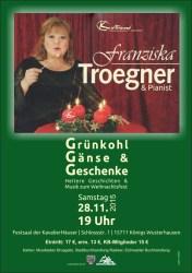 """Franziska Troegner liest """"Grünkohl, Gänse & Geschenke"""""""