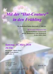 """Mit der """"Hut-Couture"""" in den Frühling"""
