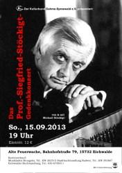 Das Prof.-Siegfried-Stöckigt-Gedenkkonzert