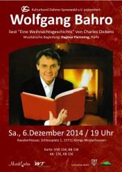 """Wolfgang Bahro liest Charles Dickens """"Eine Weihnachtsgeschichte"""""""
