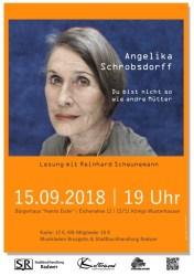 """Lesung: Angelika Schrobsdorff - """"Du bist nicht so wie andre Mütter"""""""