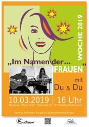 """""""Im Namen der Frauen""""... ein Liederprogramm mit """"Du & Du"""""""