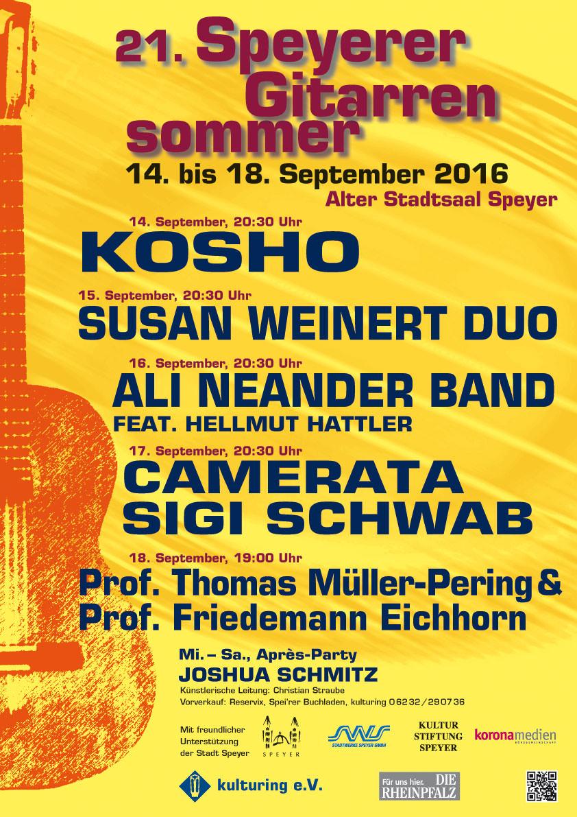 Plakat 21. Speyerer Gitarrensommer