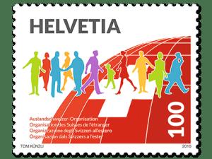 Sonderbriefmarke der Post zu 100 Jahre ASO