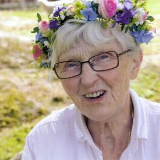 Ulla Alm, midsommar 2014. Foto Ola Falk.