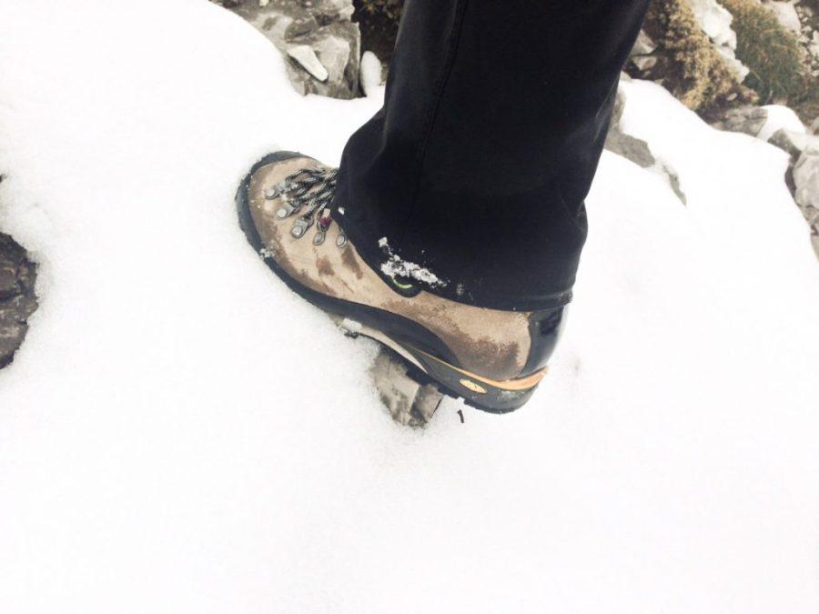 Bergstiefel bedingt steigeisenfest