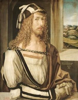 Albrecht Dürer: Selbstbildnis mit Landschaft (c) Museo del Prado, Madrid