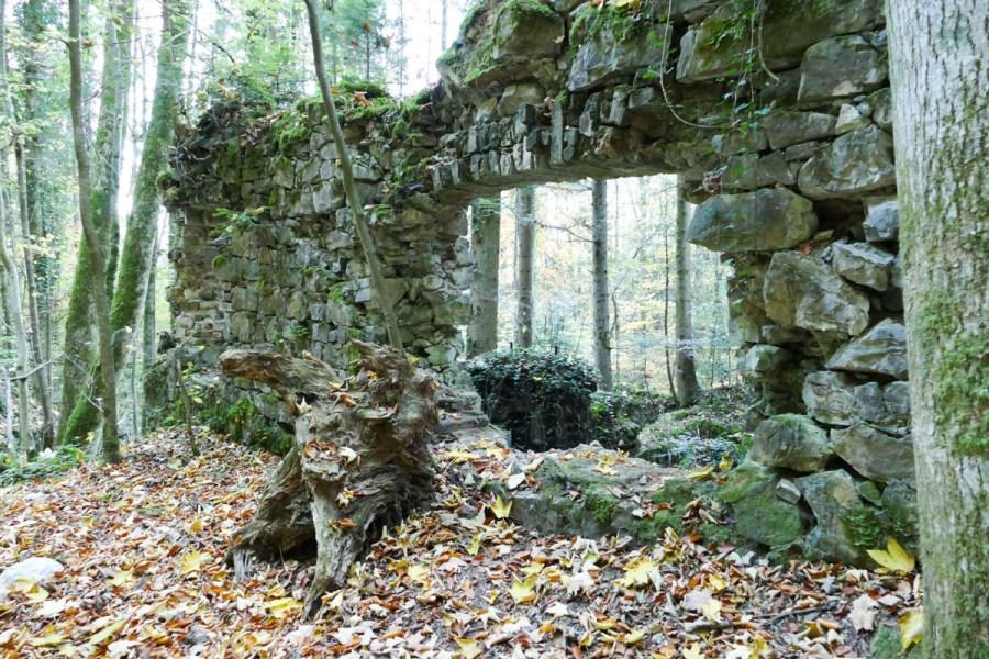 Ruinen, Mauern - Zementwerk Litzldorf