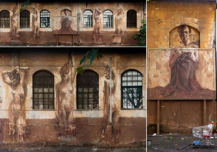*Живописный* стрит-арт итальянского художника Borondo