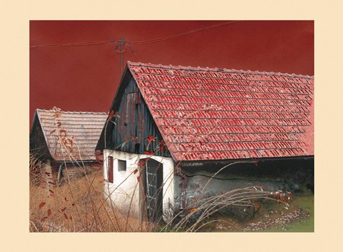 1088 Weidling, Reliefschnittgrafik, 50x70