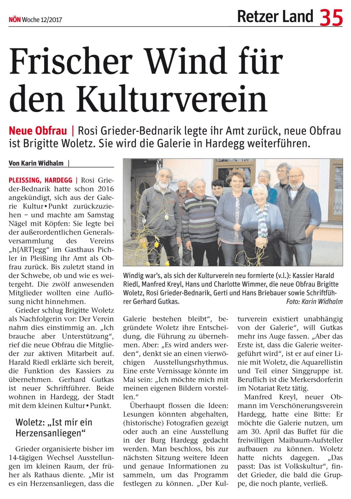 Kulturverein-Vorstand neu