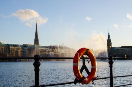 Hamburg: Binnenalster. Foto: Wera Wecker