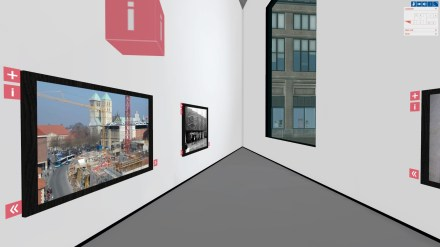Virtuelles Museum mit Blick nach draußen. http://www.museum24-7.lwl.org/