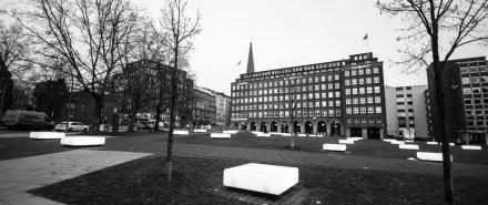 Der Domplatz in Hamburg - Standort der Hammaburg