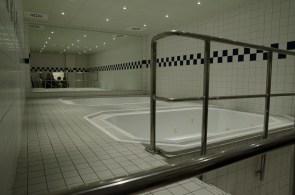 Zur Entspannung nach dem Spiel: Ein Bad im Whirpool