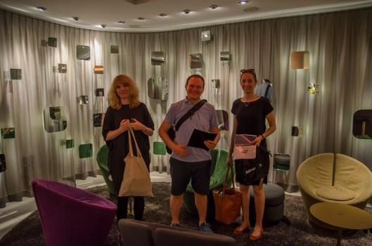 Team 2 mit  Miriam, Dimitri, Lisa und meiner Wenigkeit (hinter der Kamera)
