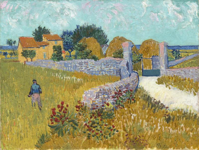 Vincent van Gogh (1853–1890) Bauernhaus in der Provence, 1888 Öl auf Leinwand, 46,1 x 60,9 cm National Gallery of Art, Washington © National Gallery of Art, Washington, Ailsa Mellon Bruce Collection, 1970.17.34