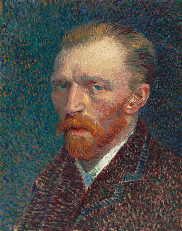 Vincent van Gogh (1853–1890) Selbsporträt, 1887 Öl auf Malpappe, montiert auf parkettierter Holztafel, 41 x 32,5, cm The Art Institute of Chicago, Joseph Winterbotham Collection, 1954.326