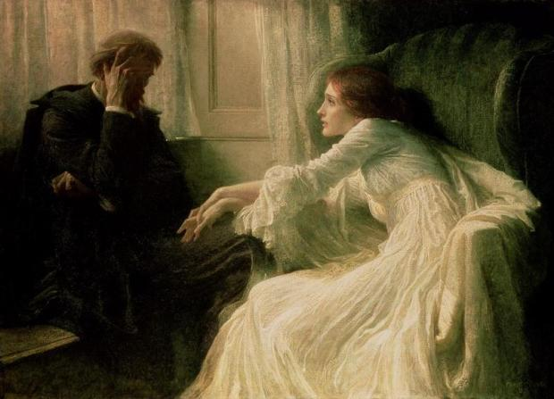 Frank_Dicksee_The_Confession_1896