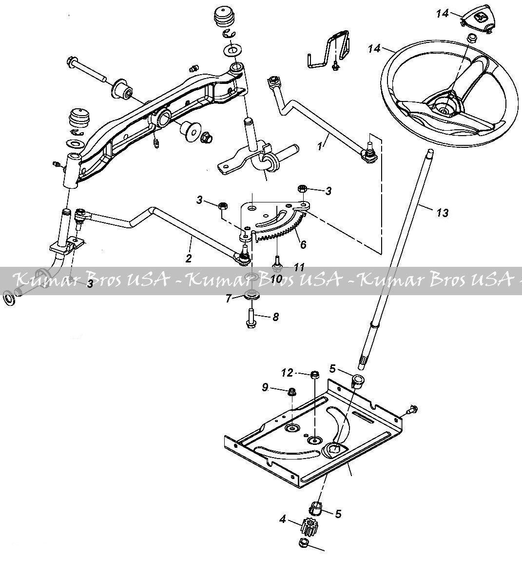 New Kumar Bros Usa Steering Kit Shaft Amp Wheel Fits John Deere Tractor La100 La110 La120 La130 La145