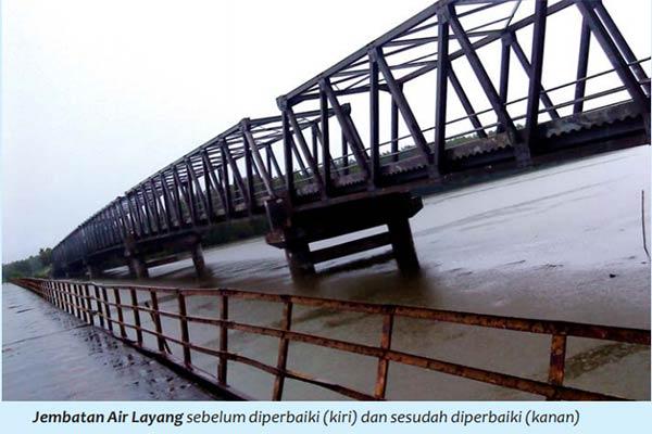 Jembatan Air Layang Pulau Bangka