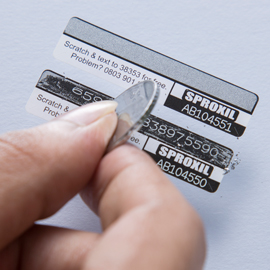 Holographic Scratch Labels